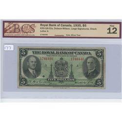 1935 - $5.00 - ROYAL - CCCS