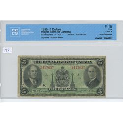1935 -$5.00 ROYAL - CCCS