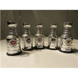 5 MINIATURE STANLEY CUPS