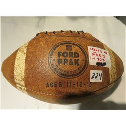 FORD PROMOTION FOOTBALL, KIDS PRINT, PASS KICK AWARDS FROM THE 70'S