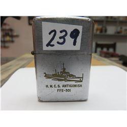 HMCS ANTIGONISH WWII SHIP LIGHTER - SHIP BUILT VICTORIA 1944