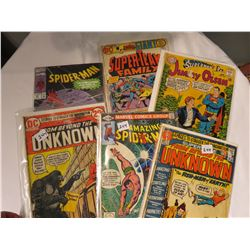 SPIDERMAN, SUPERMAN ETC COMICS