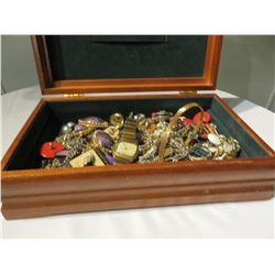 COSTUME JEWELLERY AND JEWELLERY BOX