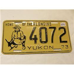 1973 YUKON LICENSE PLATE