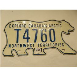 POLAR BEAR N.W.T LICENSE PLATE