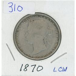 1870 LCW CANADIAN 50 CENT COIN