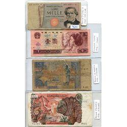FOUR WORLD BANK NOTES, ALGERIA, CHINA & ITALY