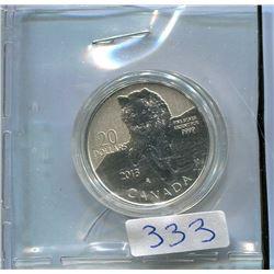 2013 20 DOLLAR .9999 SILVER COIN 1/4 OZ