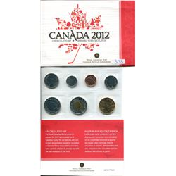 2012 UNCIRCULATED SEVEN COIN SET