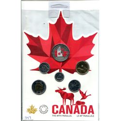 2018 CANADIAN CIRCULATION COIN SET- FROM FAR AND WIDE .50 CENT COIN