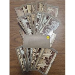 LOT OF 37 OLD STEREOSCOPE CARDS