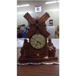 WINDSOR/GIBRALTAR METAL MANTLE CLOCK (WINDMILL)