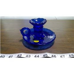 CANDLE HOLDING PLATE (BLUE)