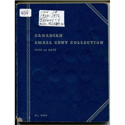 BOOKLET CANADIAN SMALL CENTS ASST YEARS 1920-1972