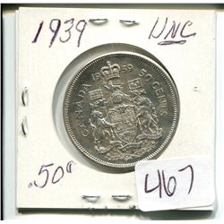 1959 CANADIAN 50 CENT