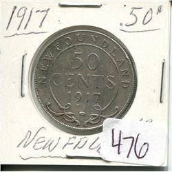 1917 NEWFOUNDLAND 50 CENT