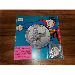 2015 $20.00 PURE SILVER COIN (SUPERMAN)