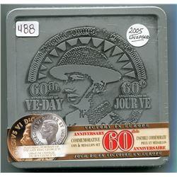 2005 60TH ANNIVERSARY COMMEMORATIVE COIN & MEDALLION SET