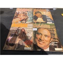 LOT OF 4 1969 CHATELAINE MAGAZINES JONI MITCHELL