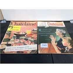 LOT OF 2 1956 CHATELAINE MAGAZINES