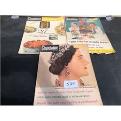 LOT OF 3 1957 CHATELAINE MAGAZINES