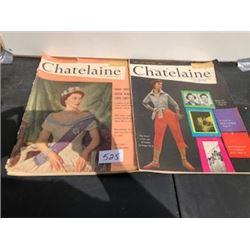 LOT OF 2 1953 CHATELAINE MAGAZINES QUEEN ELIZABETH II