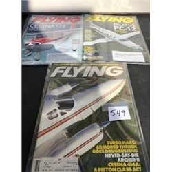 LOT OF 3 FLYING MAGAZINES (1 1985, 2 2012)