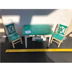 3 PIECE DOLL TABLE & CHAIRS - PLASTIC
