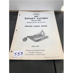 1957 FORD ROTARY CUTTER PARTS BOOK