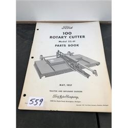 1959 FORD ROTARY CUTTER PARTS BOOK