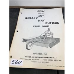 1962 FORD HAY CUTTER PARTS BOOK