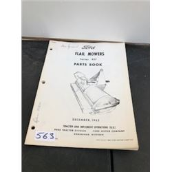 1963 FORD FLAIL MOWER PARTS BOOK