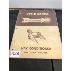 COCKSHUTT HAY CONDITIONER MANUAL