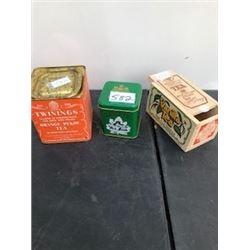 3 PIECE TWINNINGS TEA, MAPLE TEA, CEYLON TEA