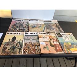 LOT OF 7 1952-1953 MACLEAN'S MAGAZINES