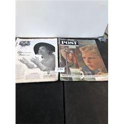 LOT OF 2 1963 POST & 1952 POST