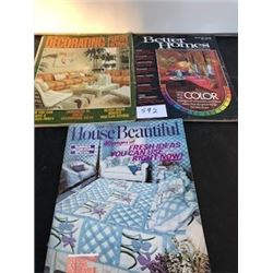 LOT OF 3 1970, 1973, 1975 BETTER HOMES MAGAZINES