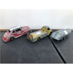 3 PIECES LONDON TOY FIRE CHIEF, PEPSI TRUCK, TANKER