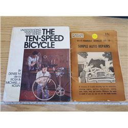 2 BICYCLE AND AUTO REPAIR BOOKS
