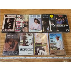 9 COUNTRY & WESTERN CASSETTE TAPES