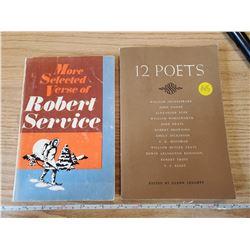 2 POETRY BOOKS, ROBERT SERVICE