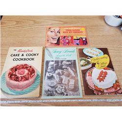 4 1950'S-1965 COOKBOOKS