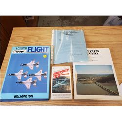 3 AIRPLANE BOOKS & 1928 AVIATION LETTER