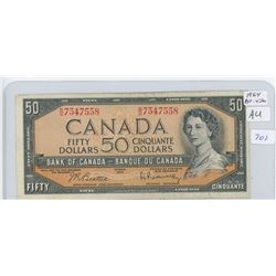 1954 Canadian Fifty Dollar Bank Note
