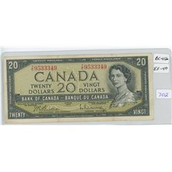 1954 Canadian Twenty Dollar Bank Note