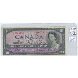 1954 Canadian Ten Dollar Bank Note
