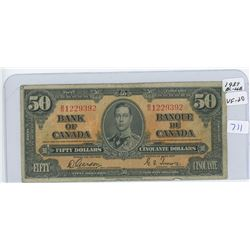 1937 Canadian Fifty Dollar Bank Note