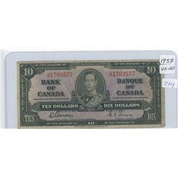 1937 Canadian Ten Dollar Bank Note