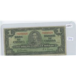 1937 Canadian One Dollar Bank Note