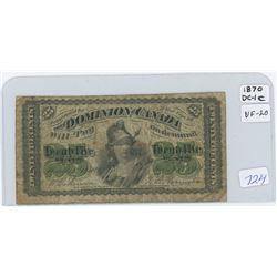 1870 Dominion Of Canada Twenty Five Cent Shin Plaster